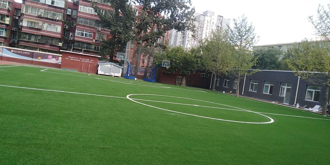 Wear Resistance Football Synthetic Grass  For Playground Long Using Life
