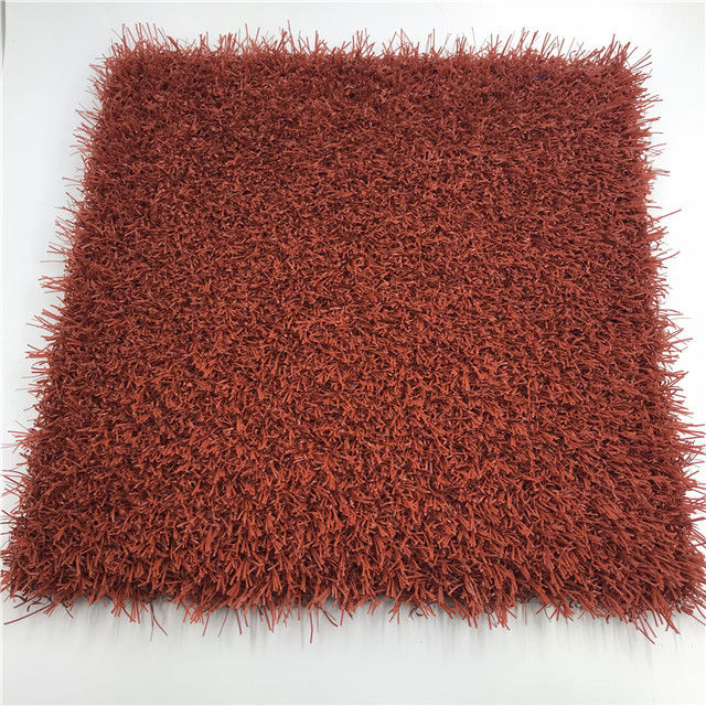 Safety Red Artificial Grass  Artificial Turf Lawn Obvious Curvature