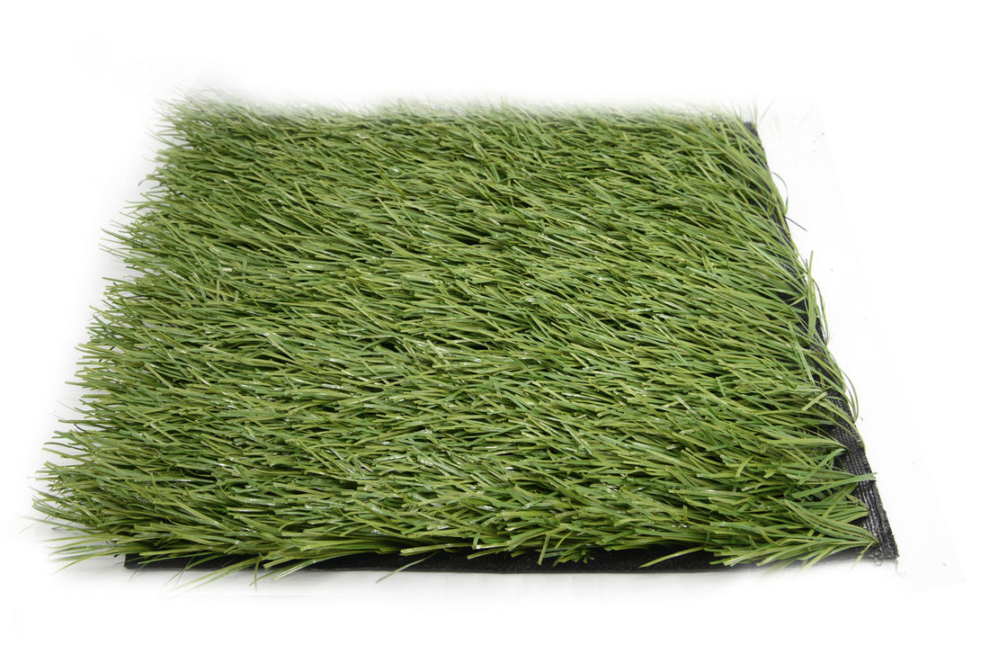 Plastic Football Synthetic Grass Mat , Green Fake Synthetic Soccer Field