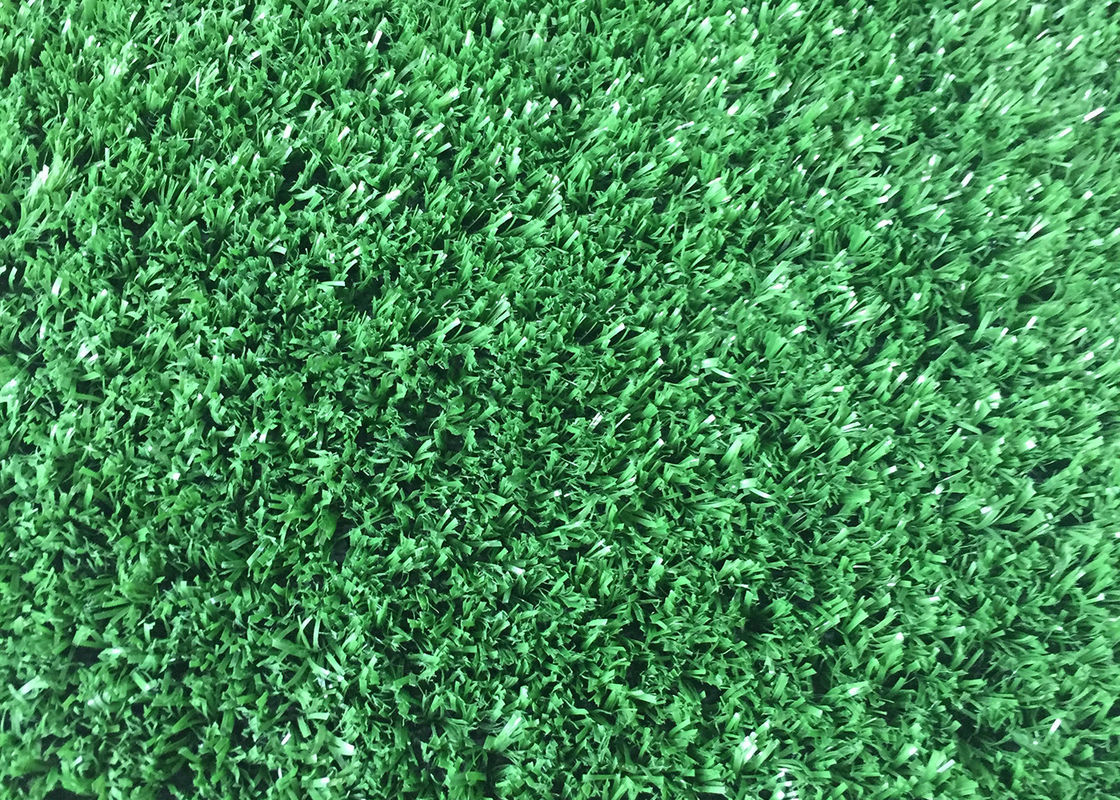 Luxury Artificial Synthetic Grass Playground Tile PE Monofilament And PP Curly